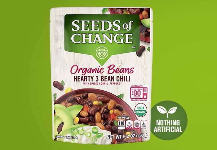 Seeds of Change® Hearty 3 Bean Chili Front of Pack