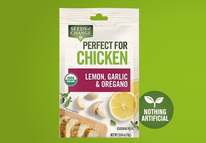Seeds of Change® Lemon Garlic and Oregano Front of Pack