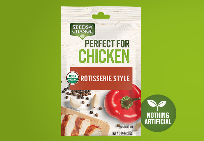 Seeds of Change® Rotisserie Style Front of Pack