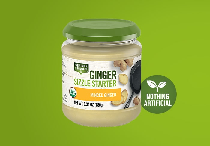 Seeds of Change® Minced Ginger Front of Pack