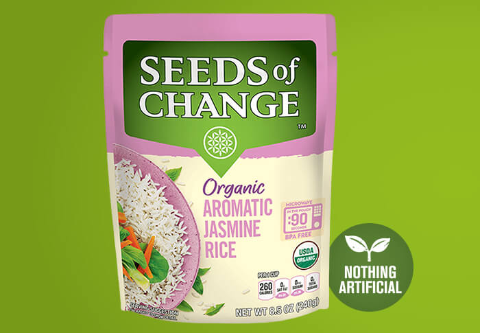 Seeds of Change® Jasmine Rice Front of Pack