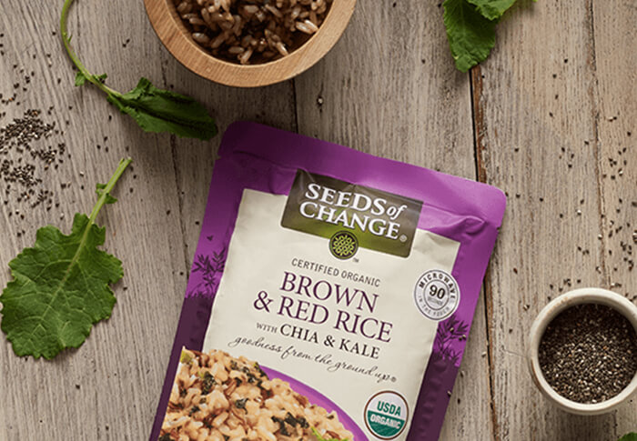 Seeds of Change® rown and Red Rice with Chia and Kale Recipe