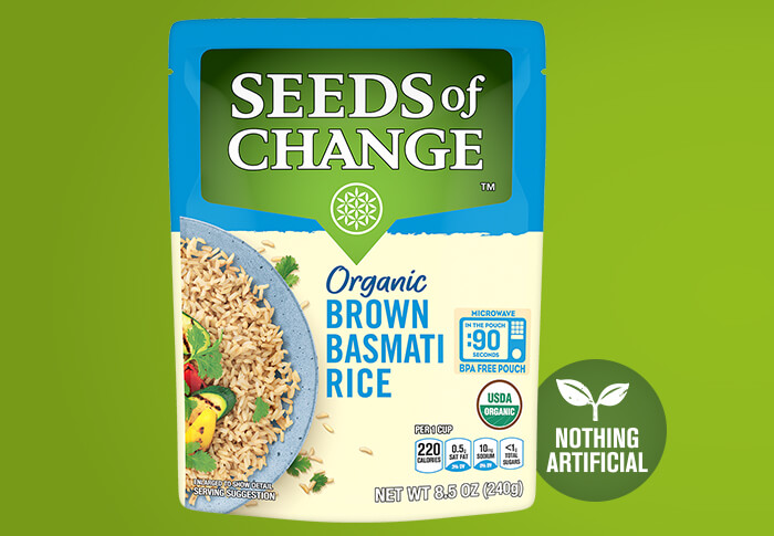 Seeds of Change® Organic Brown Basmati Rice Front Of Pack
