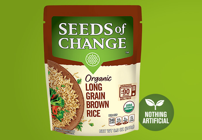 Seeds of Change® Long Grain Brown Rice Front of Pack
