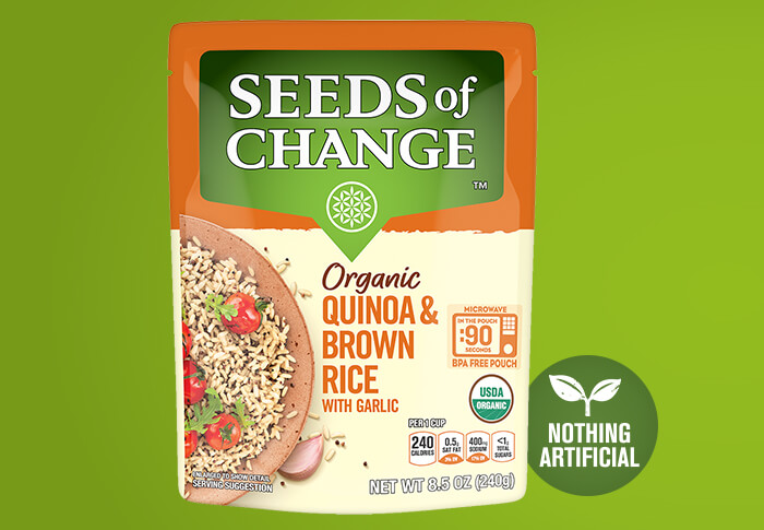 Seeds of Change® Quinoa Brown & Red Rice with Flaxseed Front of Pack