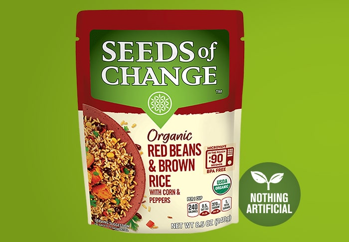 Seeds of Change® Red Beans and Brown Rice Front of Pack