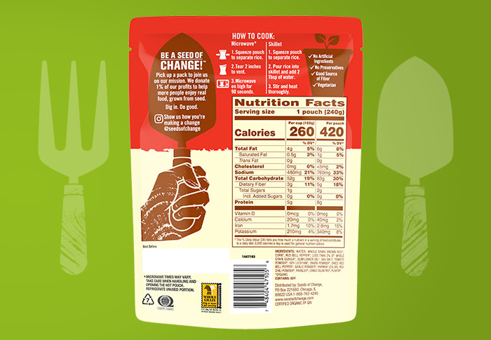 Seeds of Change® Spanish Style Rice Back of Pack