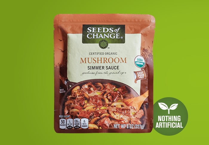 Seeds of Change® Mushroom Simmer Sauce Front of Pack