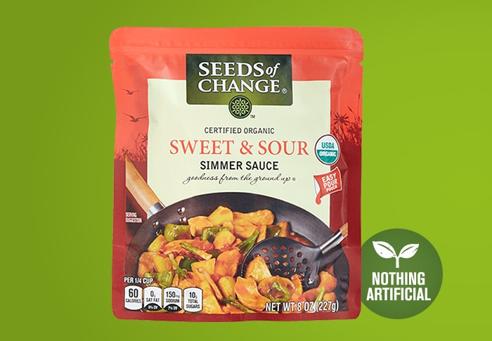 Seeds of Change® Sweet and Sour Simmer Sauce Front of Pack