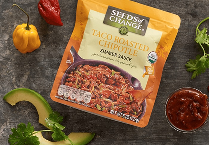 Seeds of Change® Taco Roasted Chipotle Simmer Sauce Recipe