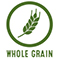"""Animated wheat stick with text that reads """"whole grain"""""""
