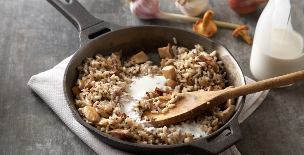 Mushroom Risotto Style Rice and Grains step