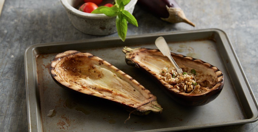 Caprese Stuffed Eggplant with Balsamic Drizzle step