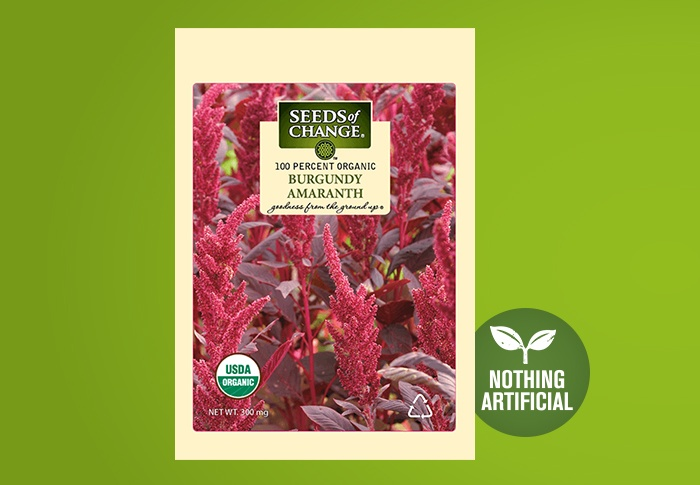 Seeds of Change® Organic Burgundy Amaranth Seeds Front of Pack