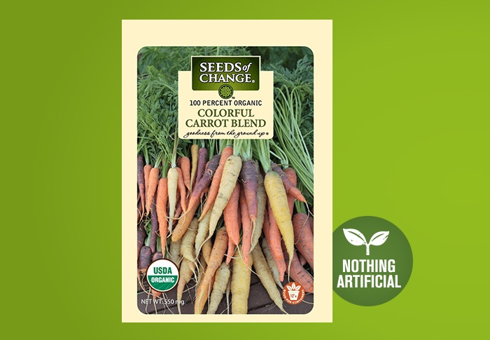 Seeds of Change® Organic Colorful Carrot Blend Seeds Front of Pack