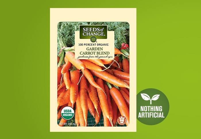 Seeds of Change® Organic Garden Carrot Blend Seeds Front of Pack