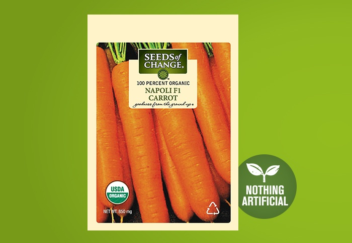 Seeds of Change® Organic Napoli Carrot Seeds Front of Pack