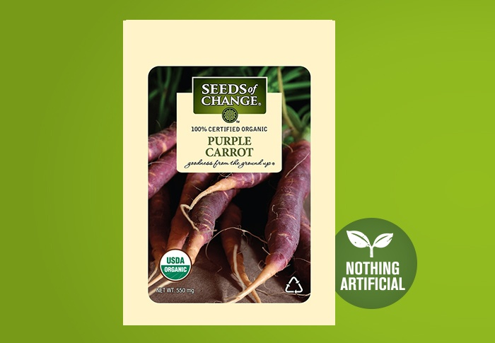 Seeds of Change® Organic Purple Carrot Seeds Front of Pack
