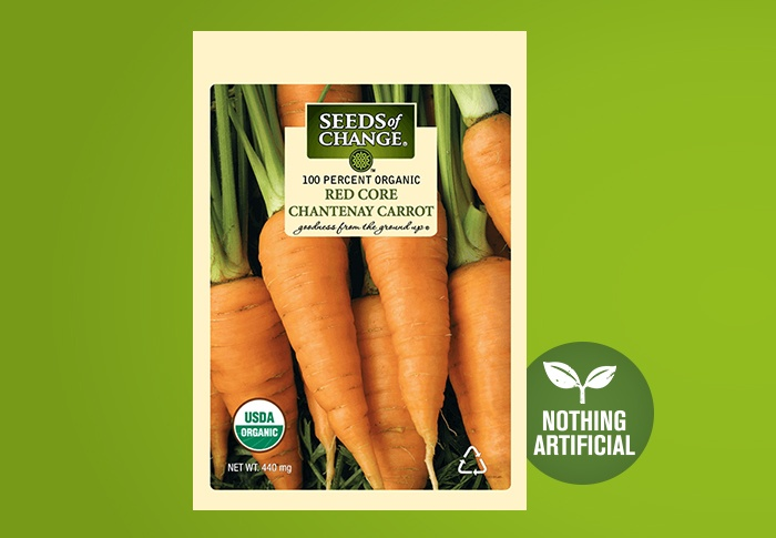 Seeds of Change® Organic Red Core Chantenay Carrot Seeds Front of Pack
