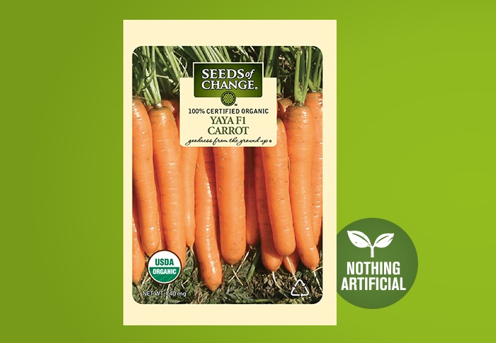 Seeds of Change® Organic Yaya Carrot Seeds Front of Pack