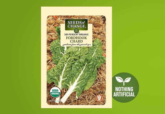 Seeds of Change® Organic Fordhook Chard Seeds Front of Pack