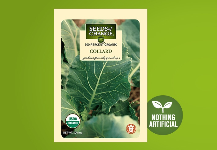 Seeds of Change® Organic Collard Seeds Front of Pack