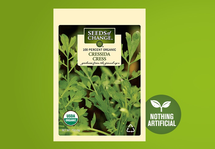 Seeds of Change® Organic Cressida Cress Seeds Front of Pack