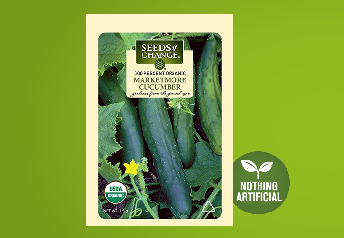 Seeds of Change® Organic Marketmore Cucumber Seeds Front of Pack