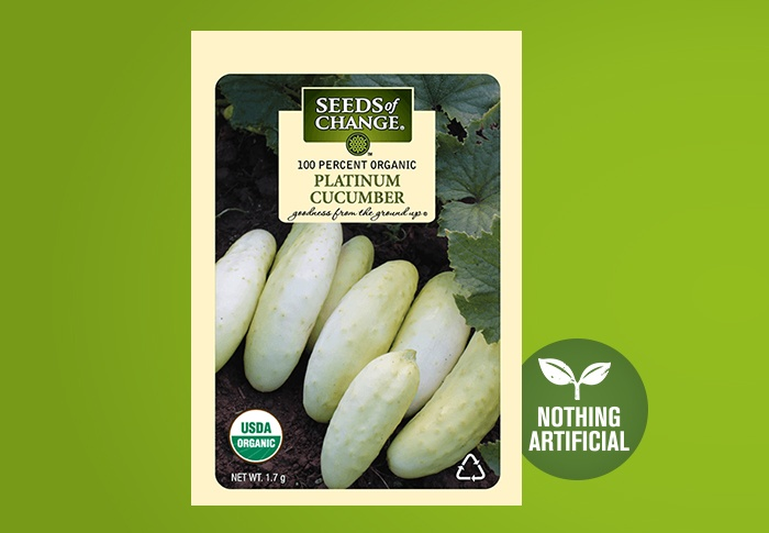 Seeds of Change® Organic Platinum Cucumber Seeds Front of Pack
