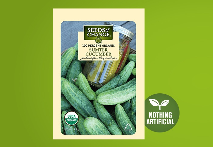 Seeds of Change® Organic Sumpter Cucumber Seeds Front of Pack