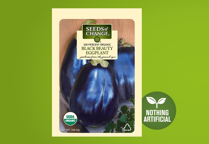 Seeds of Change® Organic Black Beauty Eggplant Seeds Front of Pack