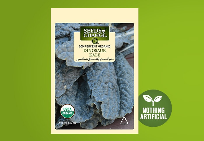 Seeds of Change® Organic Dinosaur Kale Seeds Front of Pack