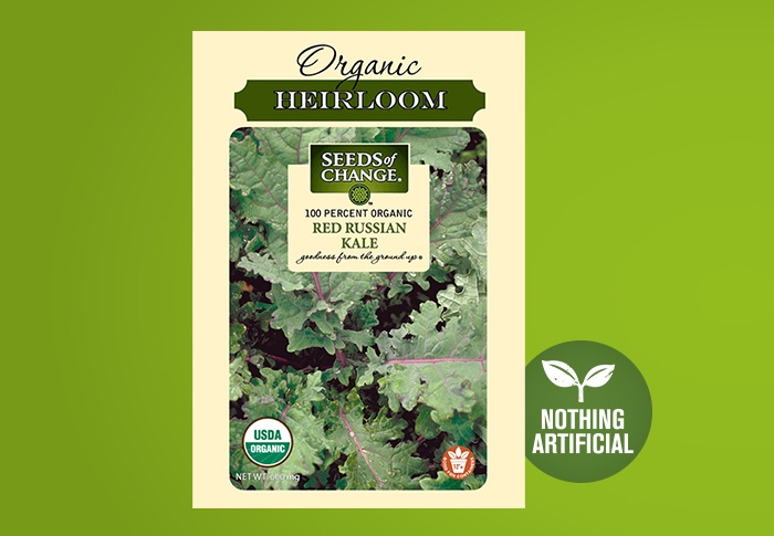 Seeds of Change® Organic Red Russian Kale Seeds Front of Pack
