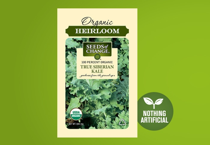 Seeds of Change® Organic True Siberian Kale Seeds Front of Pack