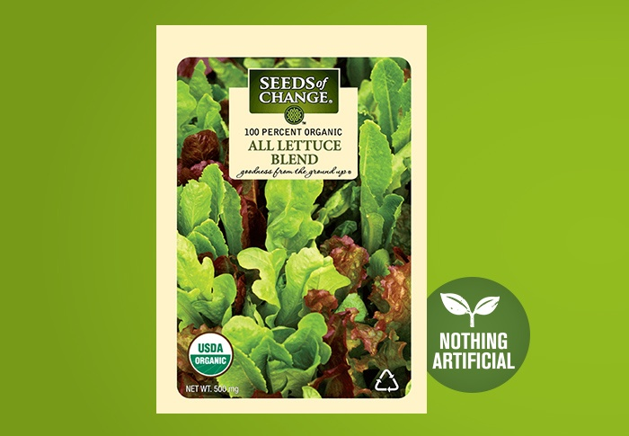 Seeds of Change® Organic All Lettuce Blend Seeds Front of Pack