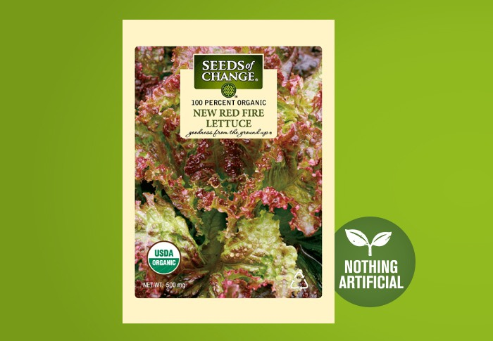 Seeds of Change® Organic New Red Fire Lettuce Seeds Front of Pack