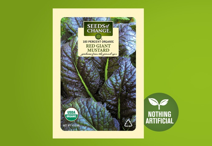 Seeds of Change® Organic Red Giant Mustard Seeds Front of Pack