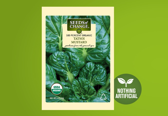 Seeds of Change® Organic Tatsoi Mustard Seeds Front of Pack