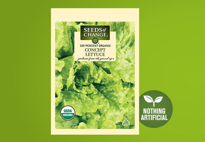 Seeds of Change® Organic Concept Lettuce Seeds Front of Pack