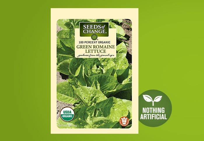 Seeds of Change® Organic Green Romaine Lettuce Seeds Front of Pack