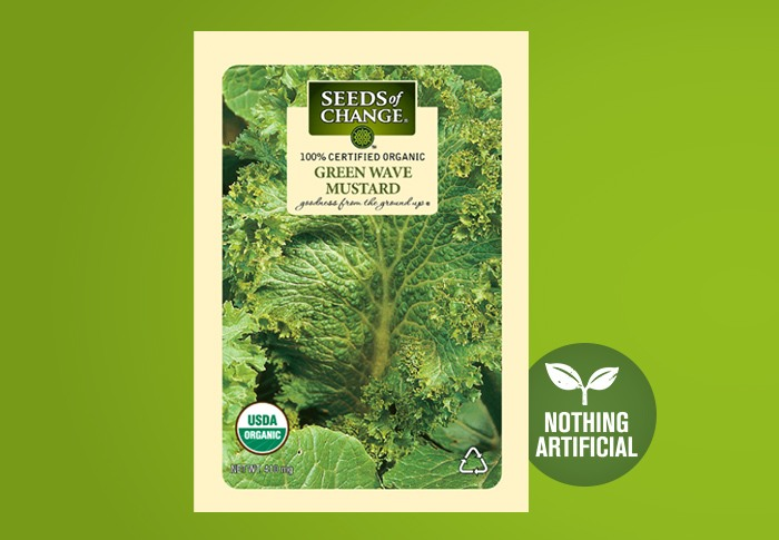 Seeds of Change® Organic Green Wave Mustard Seeds Front of Pack
