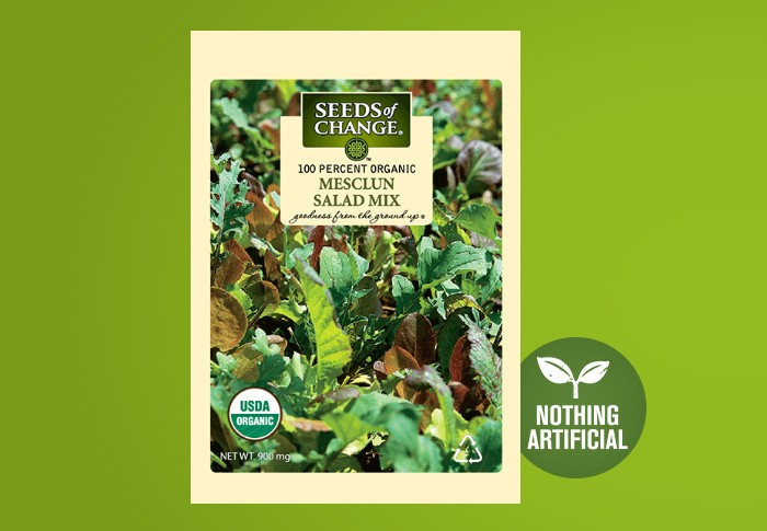Seeds of Change® Organic Mesclun Salad Mix Seeds Front of Pack