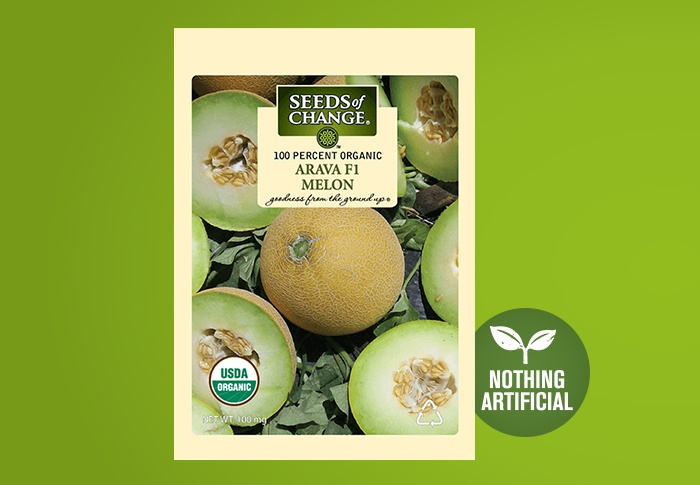 Seeds of Change® Organic Arava Melon Seeds Front of Pack