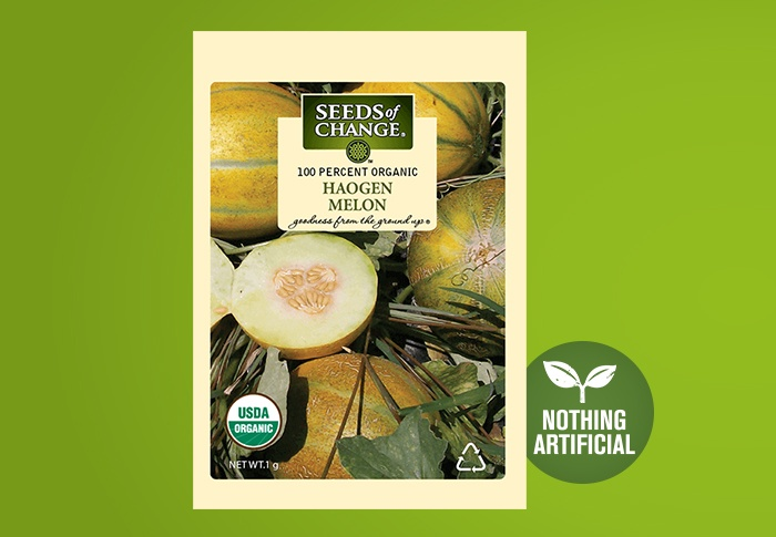 Seeds of Change® Organic Haogen Melon Seeds Front of Pack