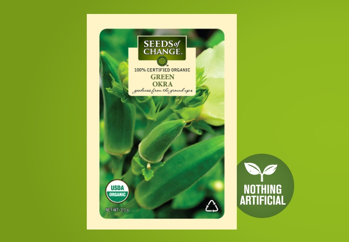 Seeds of Change® Organic Green Okra Seeds Front of Pack