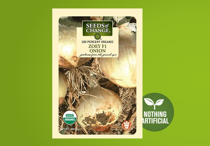 Seeds of Change® 0 Organic Zoey Onion Seeds Front of Pack