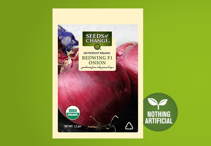 Seeds of Change® Organic Redwing Onion Seeds Front of Pack