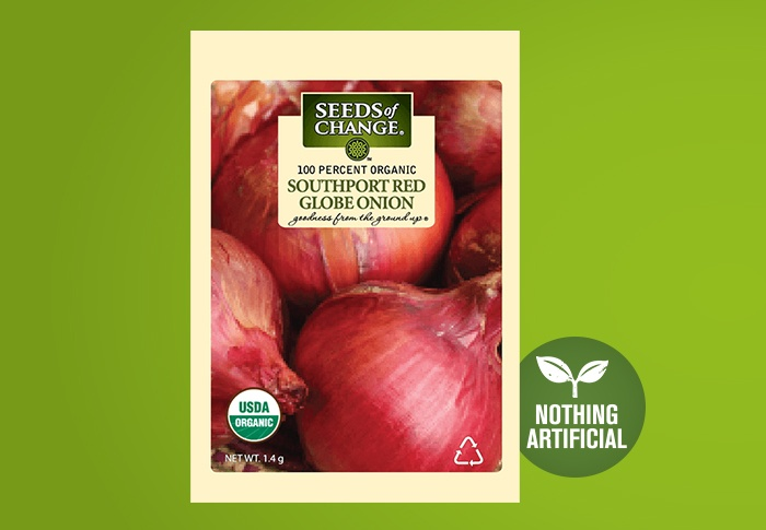 Seeds of Change® Organic Southport Red Globe Onion Seeds Front of Pack