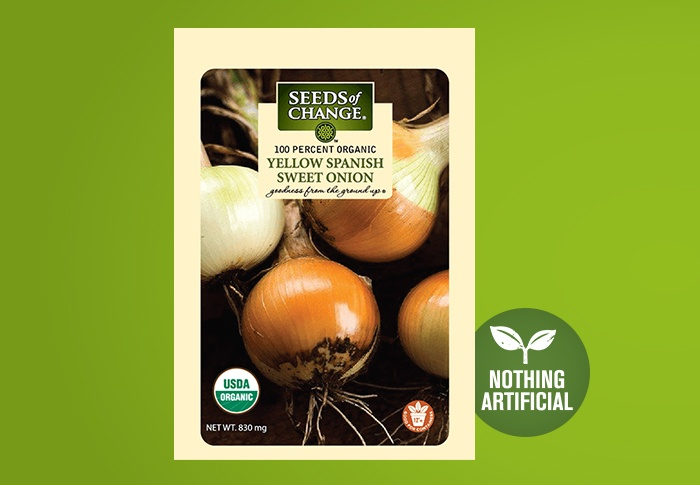 Seeds of Change® Organic Yellow Spanish Sweet Onion Seeds Front of Pack