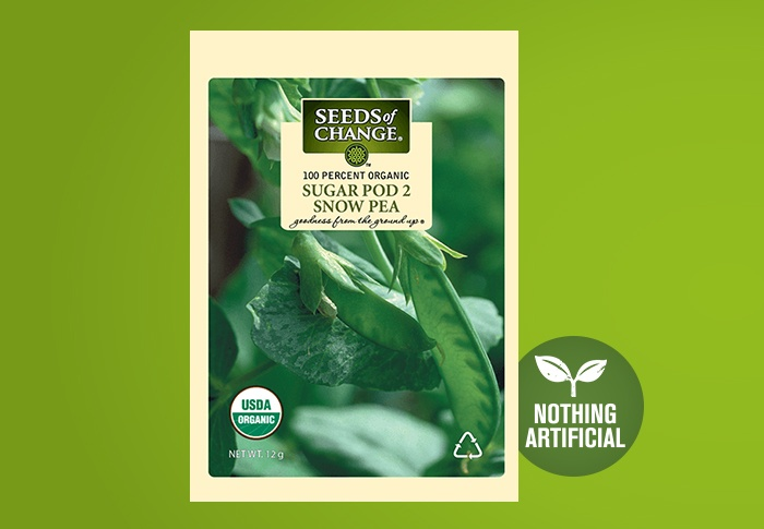 Seeds of Change® Organic Sugar Pod 2 Snow Pea Seeds Front of Pack